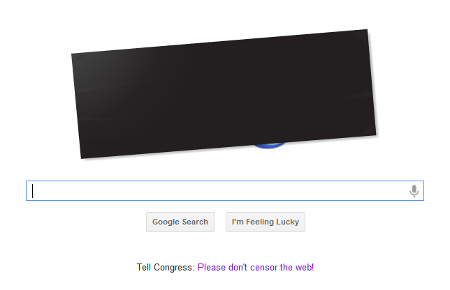Google SOPA Strike