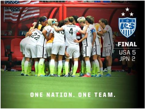U.S. Women Soccer Team 2015 Champions