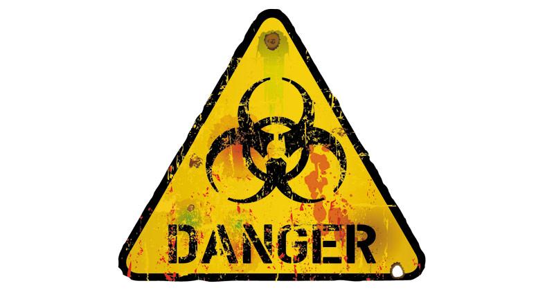 computer danger sign