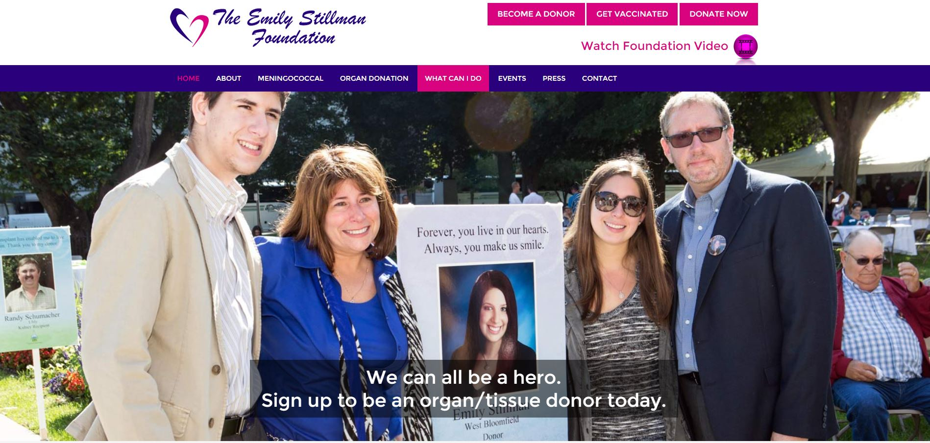 The Emily Stillman Foundation Website Redesign and Rebuild