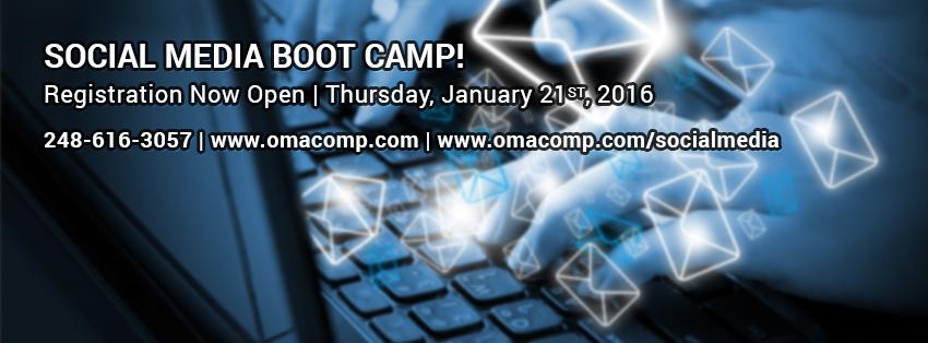 Social Media Boot Camp 2016