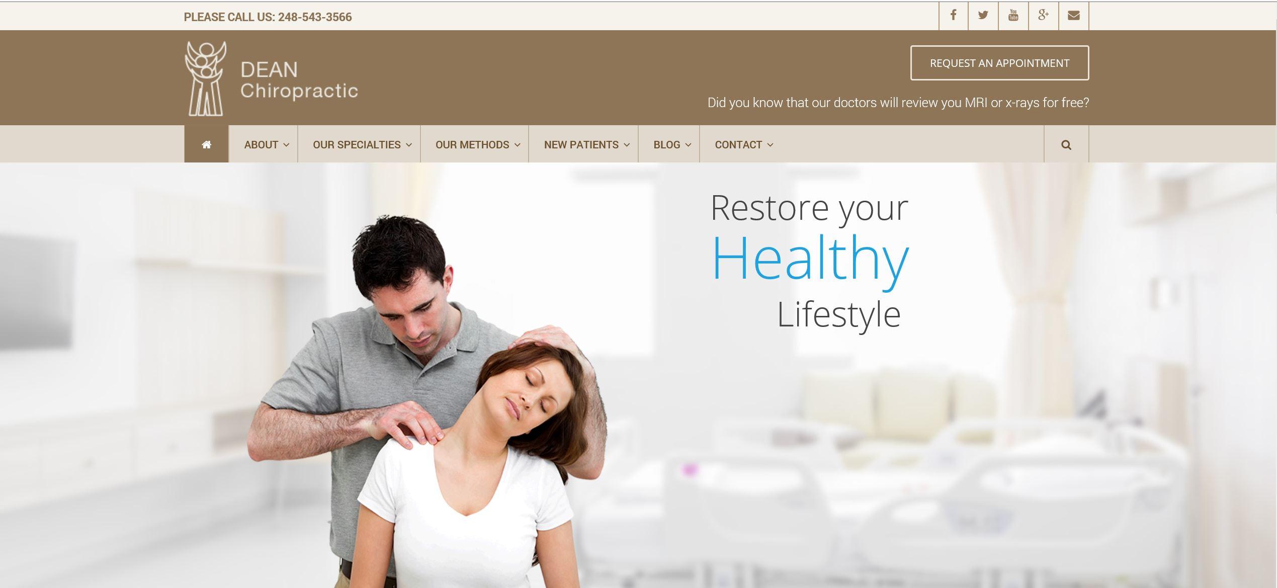 Dean Chiropractic Website