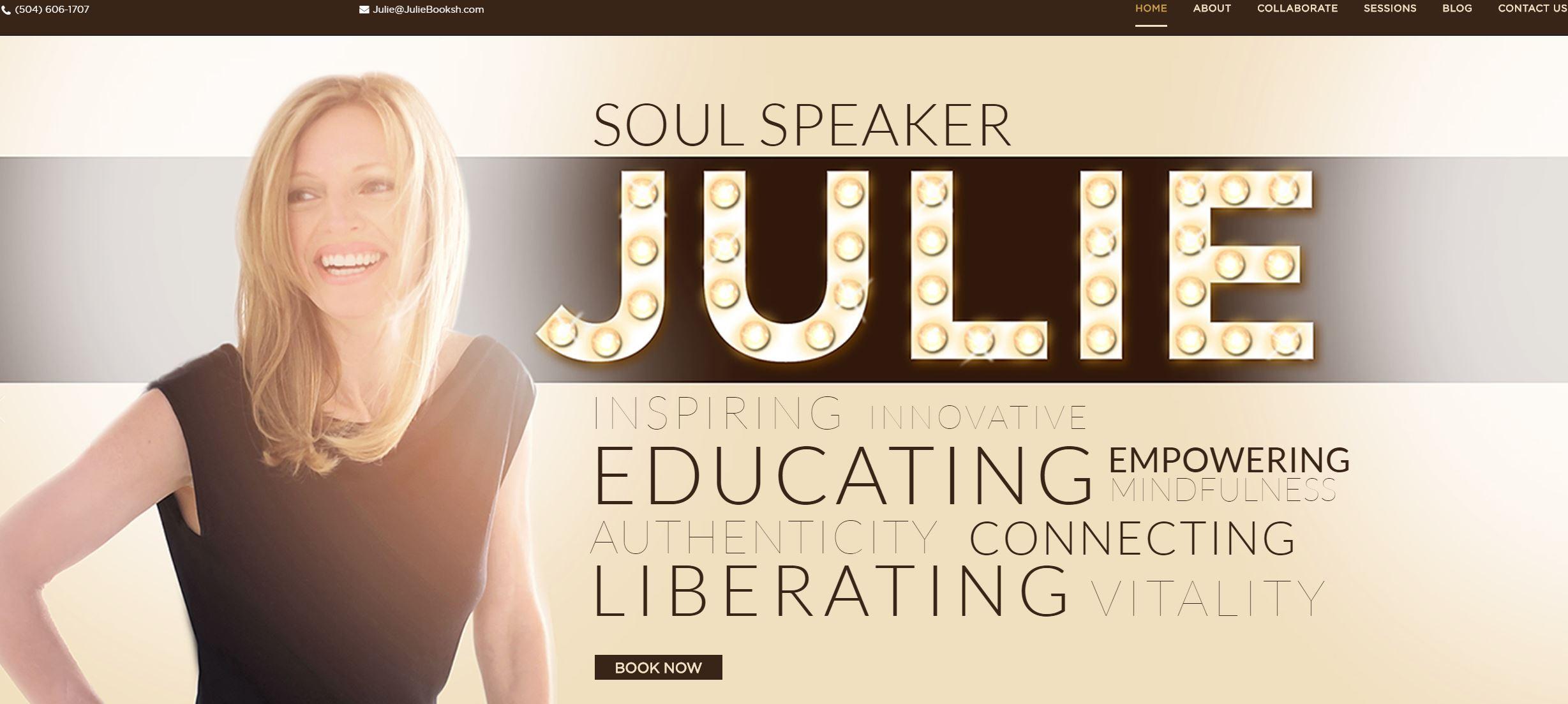 OMA Comp Julie Booksh website design