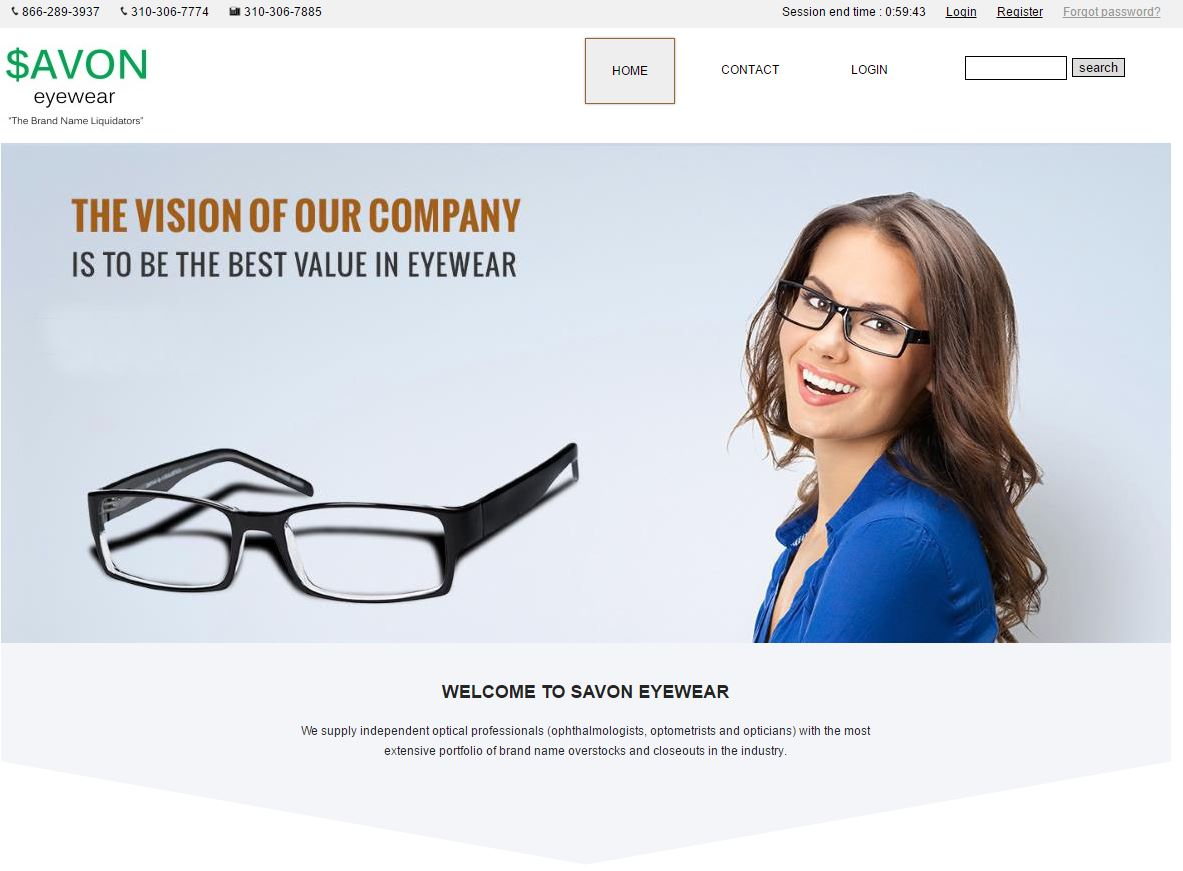Savoneyewear website 2016
