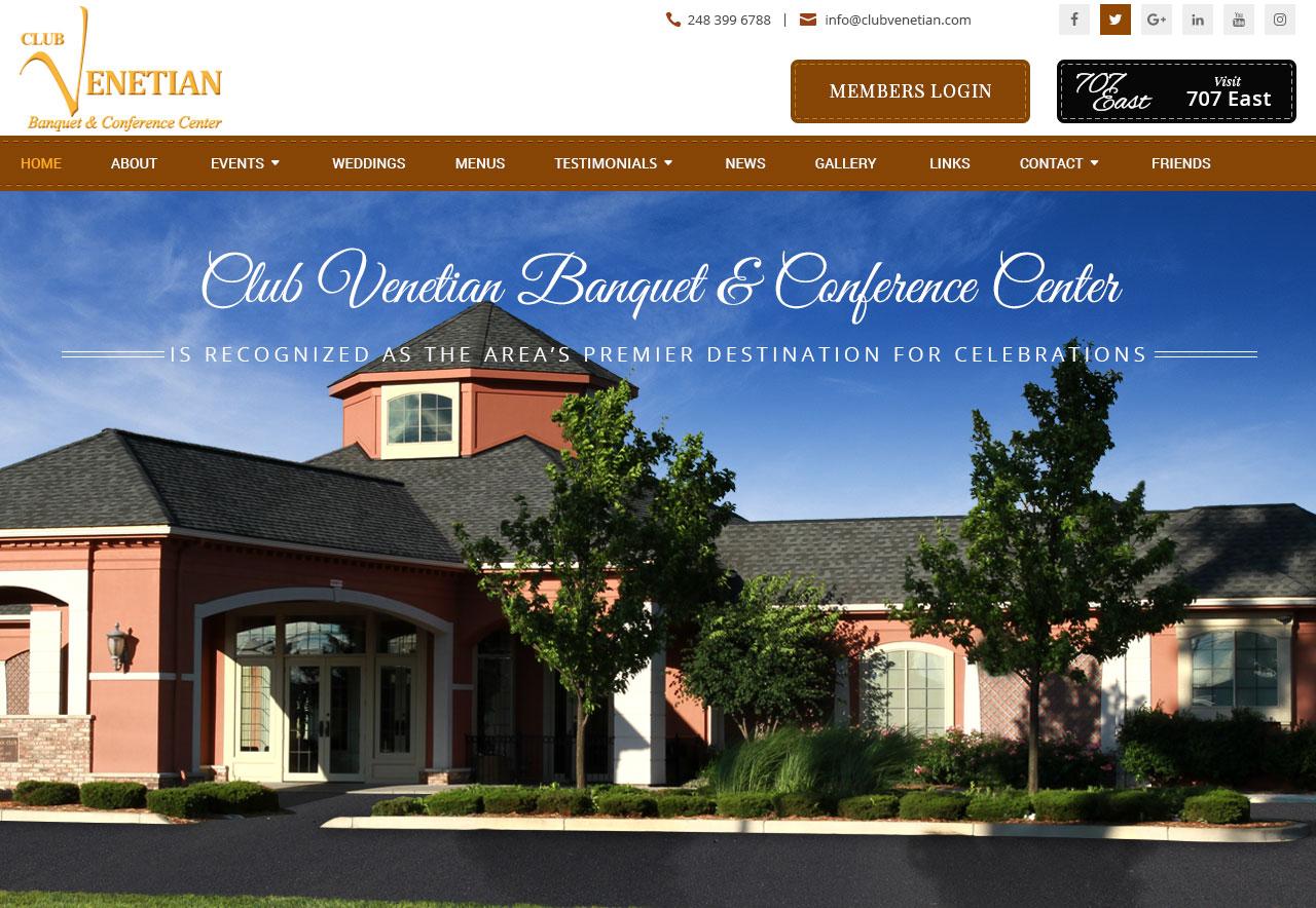 OMA Comp Designed a Website For Club Venetian