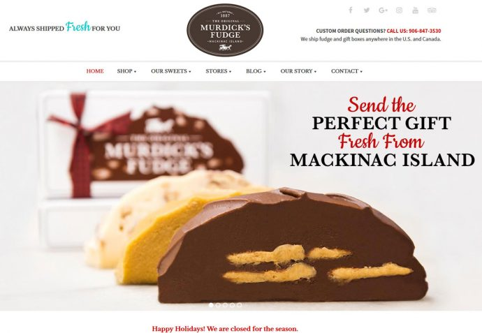 OMA Comp Designed a Graphic For Murdick's Fudge