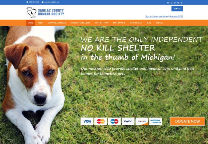 OMA Comp Designed a Website For Sanilac County Humane Society