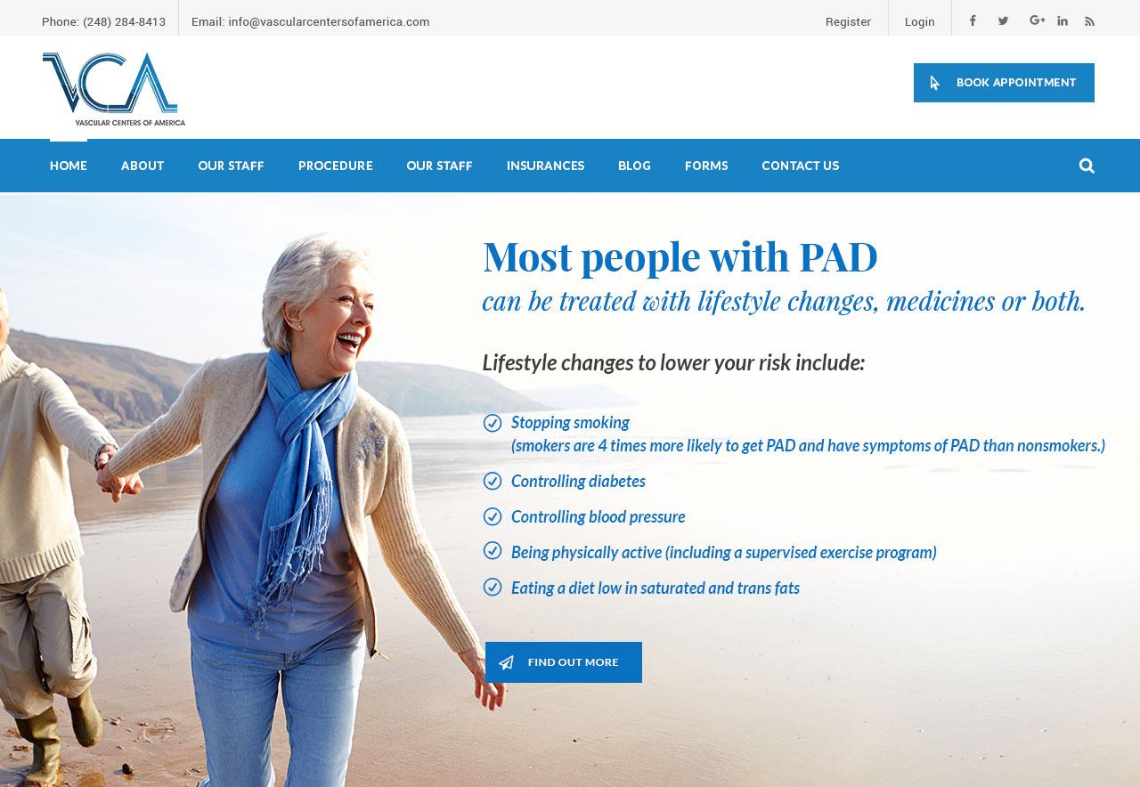 OMA Comp Designed a Website For VCA