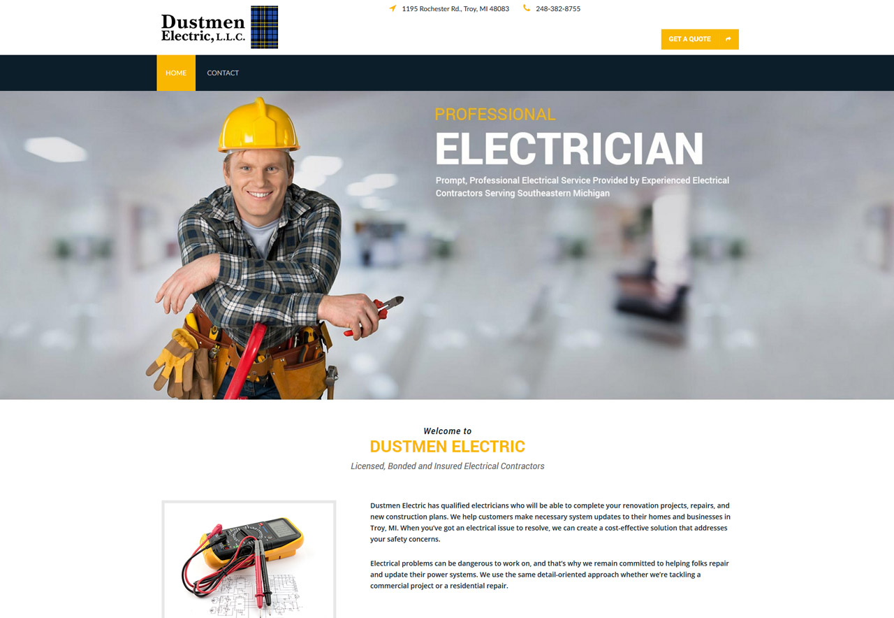OMA Comp Designed a Web For Dustmen Electric