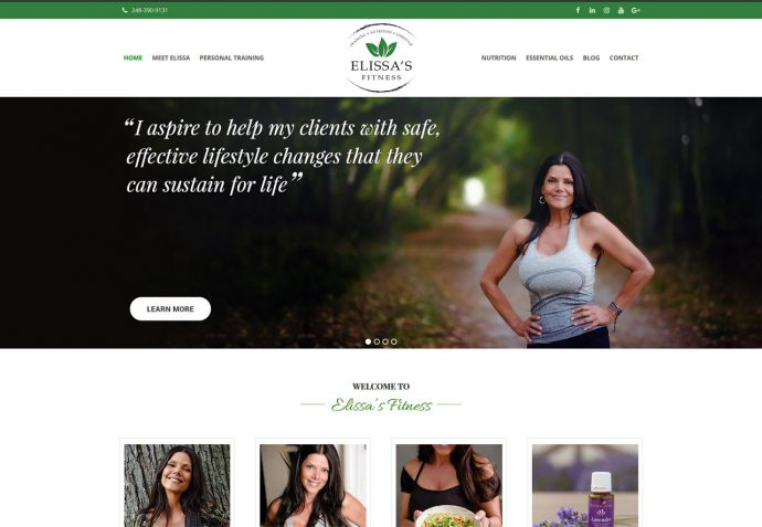 OMA Comp Designed a Web For Elissa's Fitness