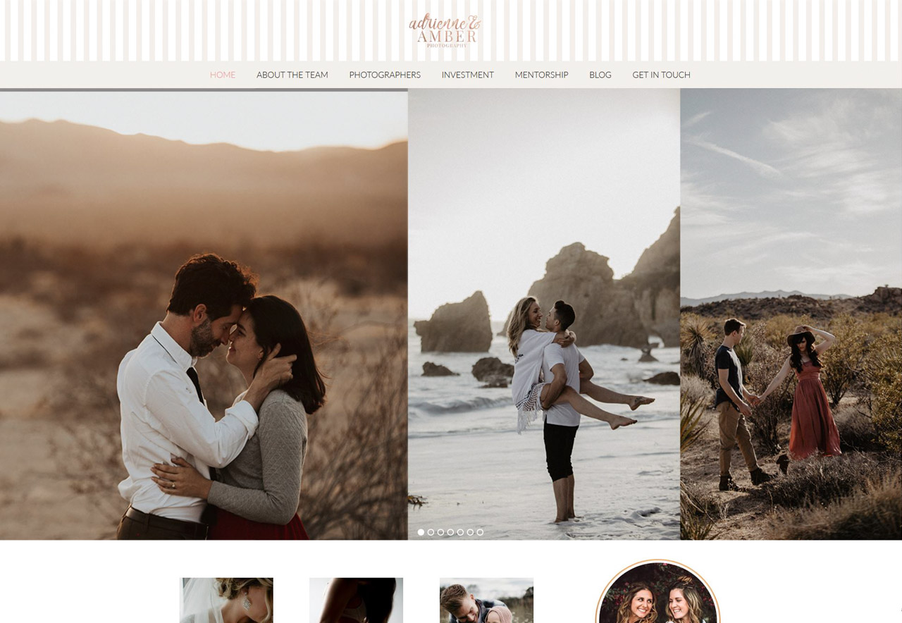 OMA Comp Designed a Web For Adrienne and Amber Photography