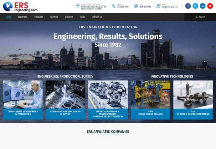 OMA Comp Designed a Web ERS Engineering Corporation