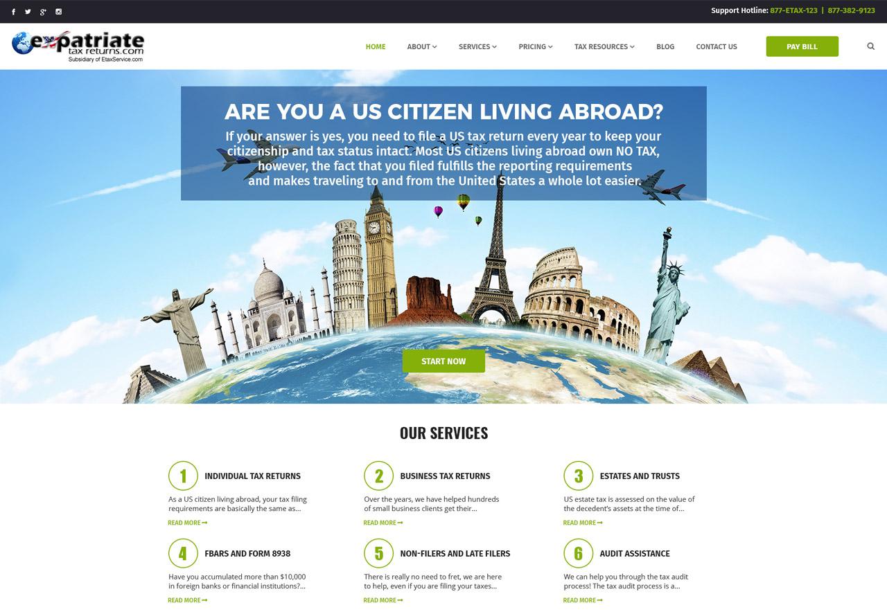 OMA Comp Designed a Web For Expatriate Tax Returns