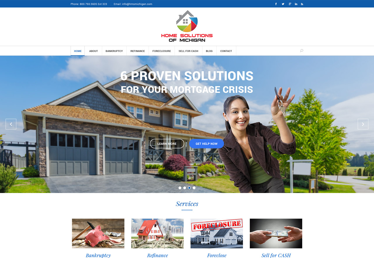 OMA Comp Designed a Web Home Solutions Of Michigan