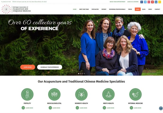 OMA Comp Designed a Web For Michigan Associates of Acupuncture and Integrative Medicine