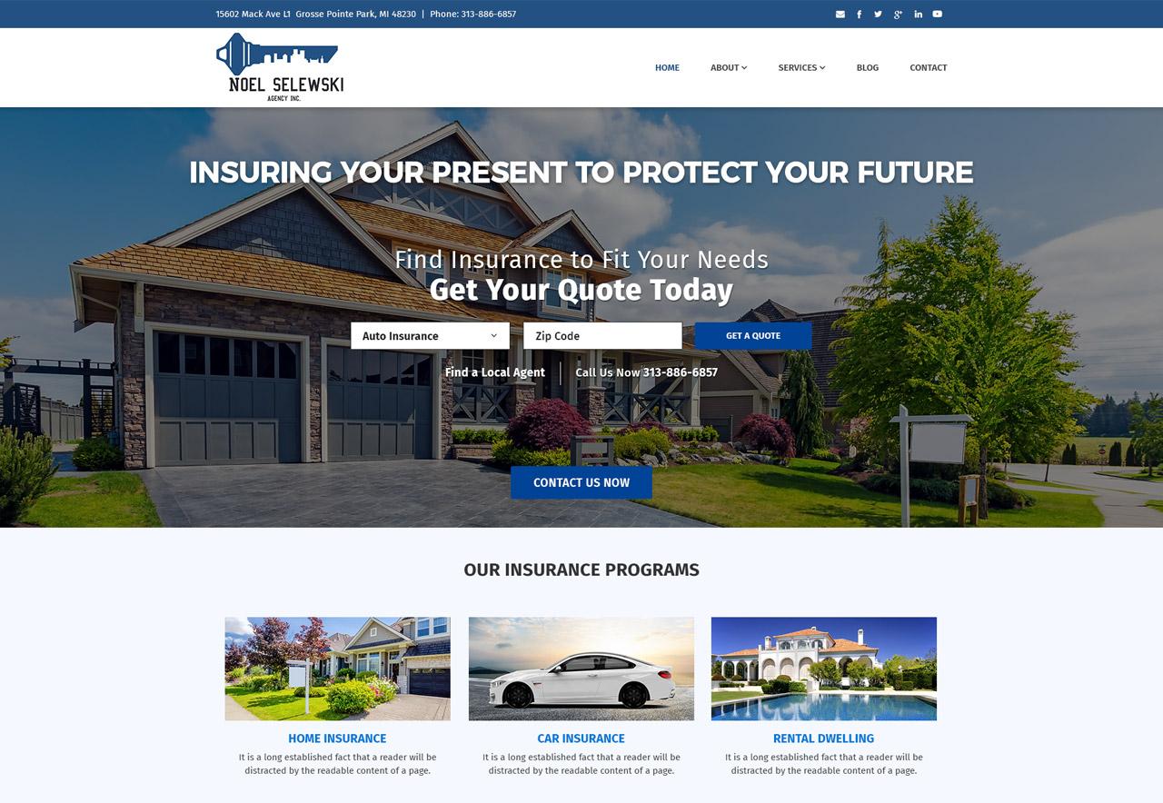 OMA Comp Designed a Web For Noel Selewski Agency Inc.