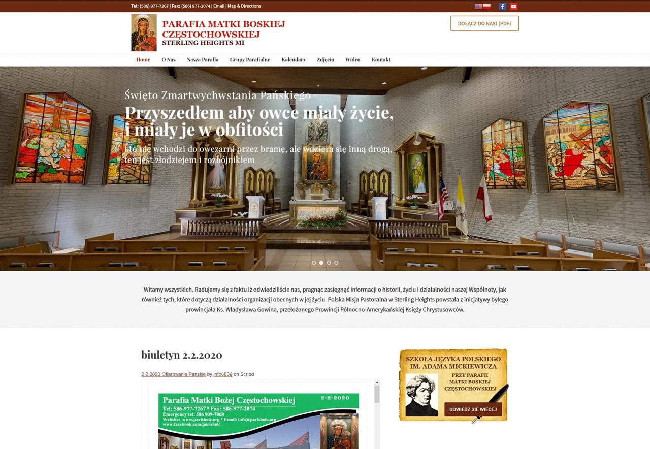 OMA Comp Designed a Web For Parafia Matki Bozej Czesochowskiej