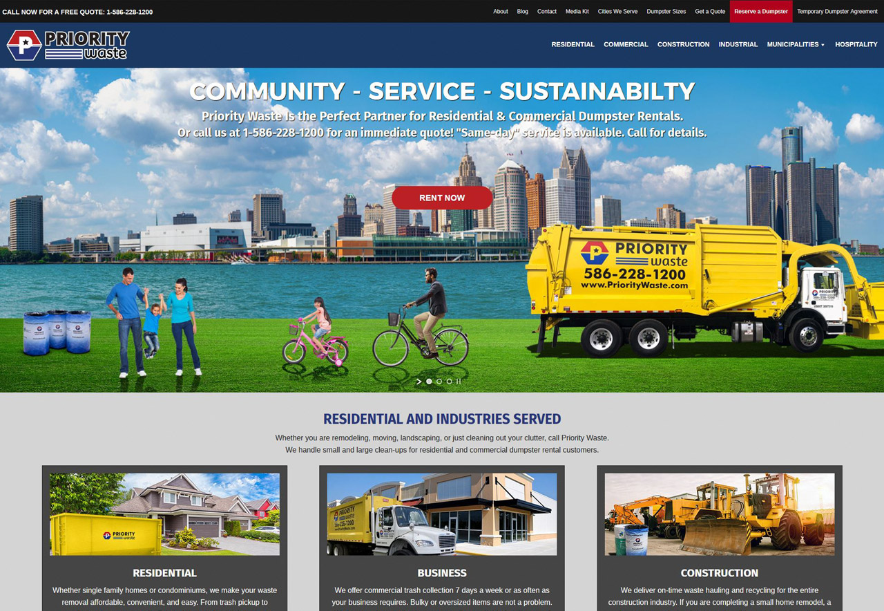 OMA Comp Designed a Web For Priority Waste