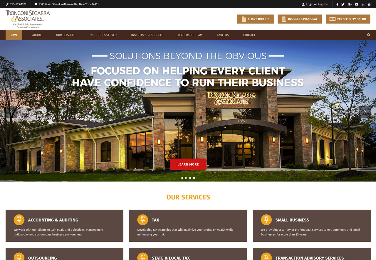 OMA Comp Designed a Web For Tronconi Segarra & Associates
