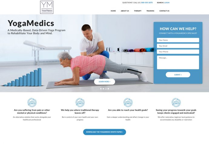 OMA Comp Designed a Web For YOGAMEDICS