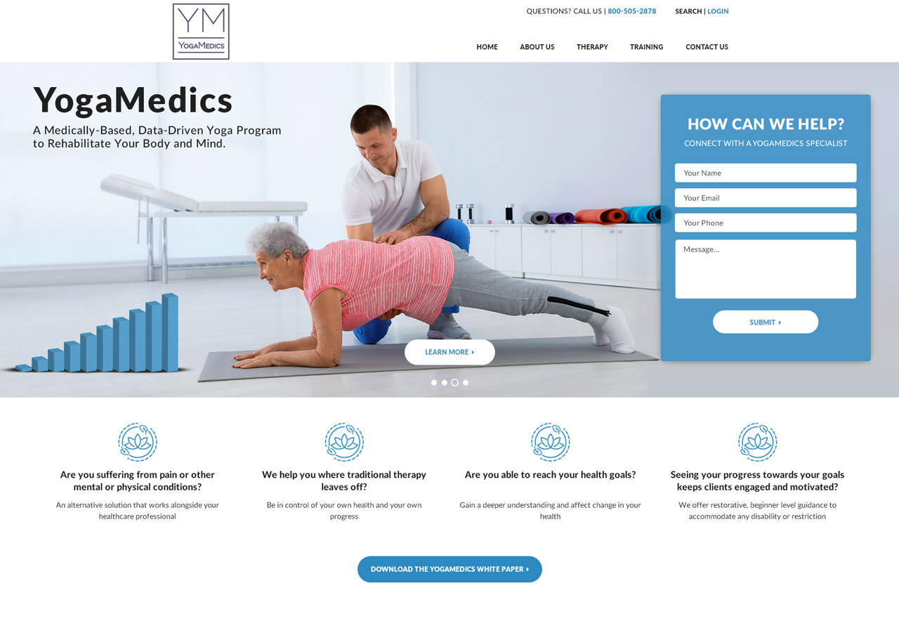 OMA Comp Designed a Web For YOGAMEDICS